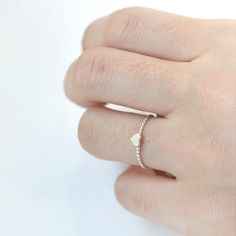 Tiny Heart Ring in sterling silver by laonato on Etsy, $19.00