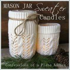 Cozy Mason Jar Sweater Candles More