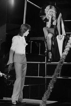 David Bowie with Amanda Lear, 1980 Floor Show, 1973