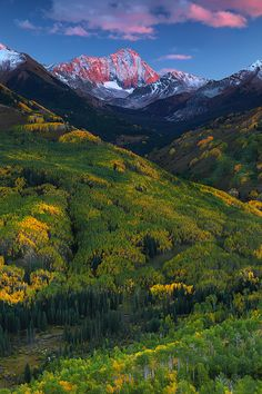 Valley of Transition  Capitol Peak - White River National Forest - Colorado; photo by Nate Zeman
