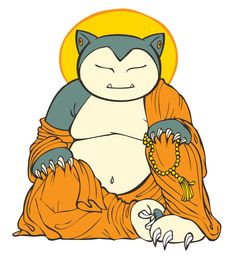 Buddha Snorlax by ~stablercake on deviantART  Through much meditation, he has reached nirvana.