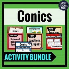 This bundle of conics activities is perfect for my conic sections unit!