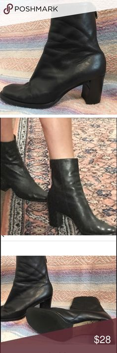 Nine West black leather ankle boots Nine West black leather ankle boots in excellent condition size 7.5 but fits size 8 comfy too Topshop Shoes Ankle Boots & Booties