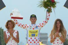 2014 27/7 rit 21 Paris/Champs-Élysées > Rafal Majka lauréat du maillot à pois du meilleur grimpeur 2014