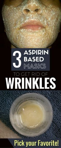3 Aspirin Based Masks To Get Rid Of Wrinkles. Pick Your Favorite-Did you ever think that a common drug we all have in our houses may be the secret ingredient to get rid of wrinkles? Besides its curative role, which helps in various medical problems, aspir Facial Treatment, Skin Treatments, Aspirin Face Mask, Wrinkle Remedies, Anti Ride, Wrinkle Remover, Prevent Wrinkles, Tips Belleza, Beauty Recipe
