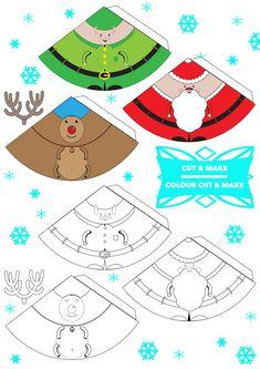 caracteres imprimibles libres de Navidad en 3D!  marionetas del dedo, del árbol?  ¿Cómo va a usar el suyo?