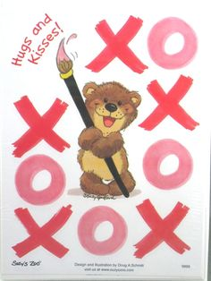 "Suzy'S ZOO Stickers ""Hugs AND Kisses"" X'S & O'S"
