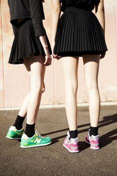 Oyster x New Balance Shoot Photography: Zac Handley Fashion: Elle Packham Models: Bec & Chinta @ The Wolves
