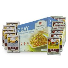 One week supply of Wise Company Survival Food for one person, including 32 servings. Package includes: 1 pouch of Chicken Noodle Soup (4 total servings) 1 pouch of Creamy Pasta (4 total servings) 2 po