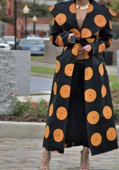 Nordstrom Coats - African/ankara /women long coat with two door African Print Fashion, African Fashion Dresses, African Attire, African Wear, African Dress, Fashion Prints, African Prints, Nordstrom Coats, Afro