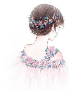 New anime art girl drawing 70 ideas Art Anime Fille, Anime Art Girl, Manga Art, Anime Girls, Manga Anime, Beautiful Drawings, Cute Drawings, Drawing Pics, Drawing Hair