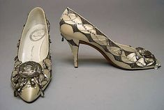 Evening shoes Roger Vivier for the House of Dior, 1961.