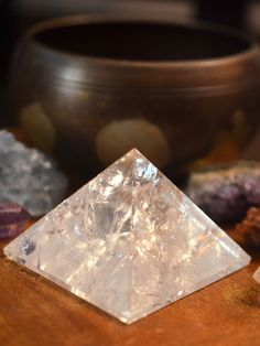 Crystal Pyramids are one of the most powerful tools for manifesting intentions and for meditation. #crystals #pyramids