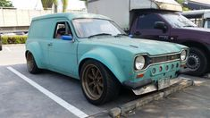 Ford Escort Wagon with a at Gymkhana – Engine Swap Depot Escort Mk1, Ford Escort, Triumph Motorcycles, Custom Motorcycles, Custom Classic Cars, Red Vans, Engine Swap, Girl Motorcycle, Motorcycle Quotes