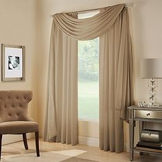 The attractive Midtown Window Scarf Valance livens up any room and matches with a variety of decors. Coordinate with the matching Midtown Rod Pocket Window Curtain panel (sold separately). Scarf valance measures 48 W x 216 L.