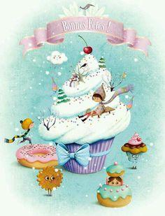 Fiestas - Holidays - Winter on a Cupcake