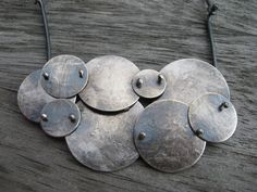 Sterling silver artisan cloud necklace by LisaColbyMetalsmith
