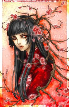 Sakura Maiden by `yuumei on deviantART