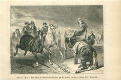 Marché aux Chevaux Achille Giroux Peintre France GRAVURE ANTIQUE OLD PRINT 1852