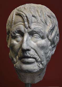 Head so-called Pseudo-Seneca (Hesiod?). Luna marble. 2nd century CE. Inv. No. 31. Rome, Roman National Museum, Palazzo Massimo alle Terme. (Photo by I. Sh.).