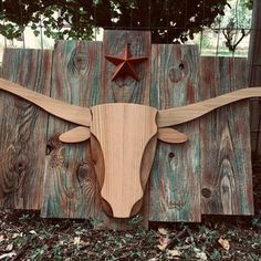 Wooden Bull's Head : 5 Steps (with Pictures) - Instructables Wooden Art, Wooden Decor, Diy Wood Projects, Wood Crafts, Art Projects, Animal Cutouts, Stick Wall Art, Wood Craft Patterns, Bois Diy