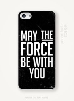 Jedi iPhone case black plastic case for iPhone Star Wars phone case quote for iPhone Jedi May the force be with you phone case star wars