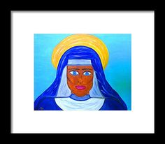 Nun Framed Print featuring the painting Madonna by Chiquita Bowleg