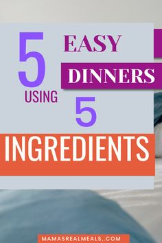 Are you a busy mom who doesn't have much time to cook dinner? Get these 5 dinner recipes that use only 5 ingredients and are prepped in 5 minutes!! Cook Dinner, Clean Eating Dinner, Easy Meal Plans, Easy Meals, Vegetarian Recipes Easy, Easy Recipes, Cooking Recipes, Money Saving Meals, Slow Cooker Soup