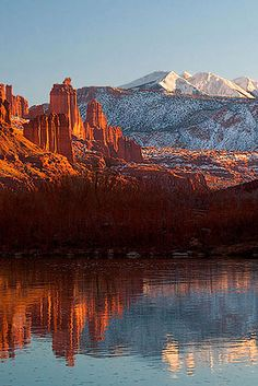 Fisher Towers, near Moab, Utah; photo by John Mumaw