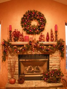 Christmas Mantle Decorating Ideas | mantel | Christmas Decorations and ideas