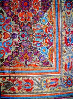 1955 - Magyar virágos szőnyeg kiviteli terve / Carpets of Artur Lakatos (1880 - 1968) Execution Plans on painted mm-paper