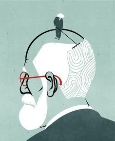 """The ego is not master in its own house."" ― Sigmund Freud, A Difficulty in the Path of Psycho-Analysis (1917) Illustration by Shout, New York Times    http://freudquotes.blogspot.com/"