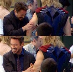 Robert Downey Jr. is doing exactly what I would do if I met Chris Hemsworth