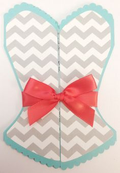 Tiffany Blue and Coral Chevron Bridal Shower Bachelorette Invitation by IcingOnTheParty, $30.00