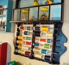 Makeover to Spool Rack, from Spoon Rack ThreeOldKeys