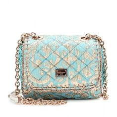 Dolce & Gabbana Jacquard Quilted Mini Shoulder Bag (2.990 BRL) ❤ liked on Polyvore featuring bags, handbags, shoulder bags, purses, bolsas, clutches, blue shoulder bag, shoulder strap handbags, purse shoulder bag and handbags purses