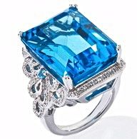 Ramona-Singer's Blue Topaz & Diamond Ring