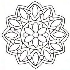 Mandala Art, Mandala Drawing, Mandala Painting, Dot Painting, Indian Embroidery Designs, Pewter Art, Paper Collage Art, Simple Mandala, Geometric Drawing