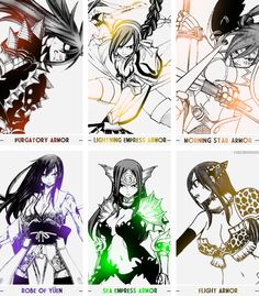 Erza's and all her armor glory