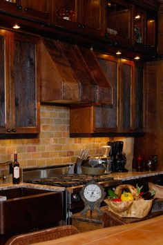 Cabinets - Custom Log Homes | Log Cabin House Plans | Rustic Home Plans