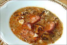 Traditional Slovakian Christmas Soup - Sauerkraut Soup