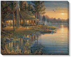 HOME BEAUTY diy diamond embroidery coss-stitch kits diamond mosaic painting paint pictures sunshine lake tree decor Pictures To Paint, Nature Pictures, Beautiful Pictures, Arte Country, Thomas Kinkade, Peaceful Places, Bob Ross, Cross Paintings, Wildlife Art