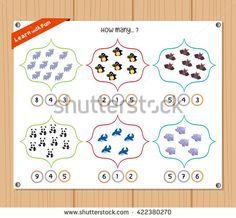 Find Counting Object Kids Education Worksheet stock images in HD and millions of other royalty-free stock photos, illustrations and vectors in the Shutterstock collection. Kids Education, Counting, Worksheets, Royalty Free Stock Photos, Objects, Illustration, Early Education, Literacy Centers, Illustrations