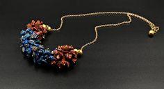 Women's  Beaded Necklace Lapis Lazuli Necklace Gemstone