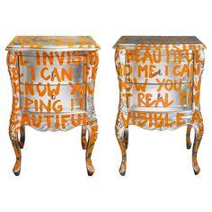 Funky Painted Furniture, Metal Furniture, Upcycled Furniture, Diy Furniture, Furniture Design, Vintage Furniture, Graffiti Furniture, Deco Boheme, Design Art