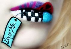 Fruity Lip Art from artist Eva Senin Pernas who goes by Chuchy5. New trend in lipstick - DIY!