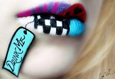 Fruity Lip Art from artist Eva Senin Pernas who goes by Chuchy5. New trend in lipstick - DIY!