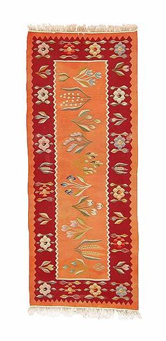 Origin:Romania  Weaving Type:Kilims  Width:2'4'' (72 cm)  Length:5'11'' (180 cm)  Weight:4.4 lbs (2 kg)  Weft:Wool  Warp:Cotton  ID:K0003593  Price:$750.00 (approx. €583)  Description:    Romanian Kilim Runner Rug with floral motifs. This piece is around 60 years old and in good condition. Kilim Runner, Patchwork Rugs, Carpet Runner, Floral Motif, Kilim Rugs, Vintage Rugs, Area Rugs, Weaving, St Michael
