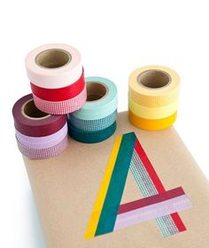 Washi tape letters - makes office work fun!