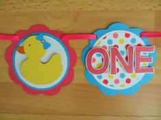 Rubber Duck Ducky I Am 1 Age Highchair Banner Sign Birthday Party Shower Pink Yellow Blue Party Decor Decorations